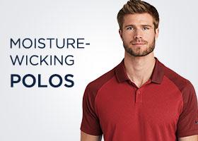 Moisture-Wicking Polos