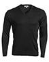 Edwards 265 Men Ribbed Collar Interlock Stitch V-Neck Sweater