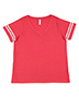LAT 3837 Ladies Curvy Football T-Shirt