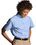 Edwards 5230 Women Button-Down Collar Poplin Short-Sleeve Shirt