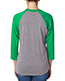 Next Level 6051 Unisex Tri-Blend 3/4-Sleeve Raglan T-Shirt