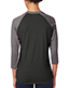 Next Level 6051 Unisex Tri-Blend 3/4-Sleeve Raglan T-Shirt