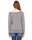 Bella + Canvas 7501 Women Sponge Fleece Wide Neck Sweatshirt
