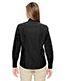 North End 77044 Women Align Wrinkle-Resistant Cotton Blend Dobby Vertical Striped Shirt