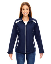 North End 78188 Women Tempo Lightweight Recycled Polyester Jacket With Embossed Print
