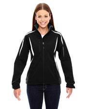 North End 78650 Women Enzo Colorblocked Three-Layer Fleece Bonded Soft Shell Jacket