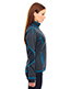 North End 78681 Women Pulse Textured Bonded Fleece Jacket With Print