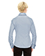 North End 78689 Women Refine Wrinkle-Free Two-Ply 80 Cotton Royal Oxford Dobby Taped Shirt
