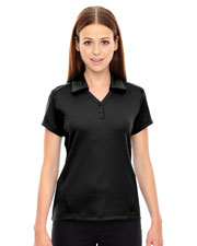 North End 78803 Women Exhilarate Coffee Charcoal Performance Polo With Back Pocket