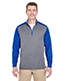 Ultraclub 8232 Men Cool & Dry Sport 2-Tone 1/4-Zip Pullover