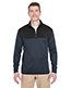Ultraclub 8233 Adult Cool & Dry Sport Colors Block 1/4-Zip Pullover