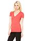 Bella + Canvas 8435 Women Triblend Short Sleeve Deep Vneck Tshirt