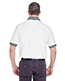 UltraClub 8536 Men WhiteBody Classic Pique Polo with Contrast MultiStripe Trim