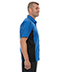 North End 87042T Men Tall Fuse Colorblock Twill Shirt