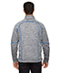 North End 88697 Men Flux Melange Bonded Fleece Jacket