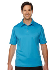 North End 88803 Men Exhilarate Coffee Charcoal Performance Polo With Back Pocket