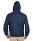 Ultraclub 8915 Men Fleece Lined Hooded Jacket