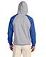 Jerzees 96CR Men 50/50 Nublend Colorblock Raglan Pullover Hood