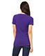 Bella + Canvas B6035 Women Jersey Short-Sleeve Deep V-Neck T-Shirt