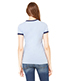 Bella + Canvas B6050 Women Jersey Short-Sleeve Ringer T-Shirt