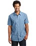 District Made DM3810 Men Short-Sleeve Washed Woven Shirt
