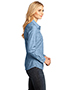 District Made DM4800 Women Long-Sleeve Washed Woven Shirt