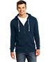 District DT190 Men Core Fleece Full-Zip Hoodie