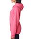 J America J8836 Women Brushed V-Neck Hooded Fleece