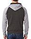 J America J8874 Adult Tri-Blend Color Block Full-Zip Hooded Fleece