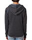 J America J8876 Women 1/2-Zip Tri-Blend Hooded Fleece