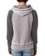 J America J8926 Women Zen Contrast Hooded Fleece
