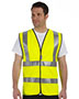 Occunomix LUXSSF Men Premium Solid Dual Stripe Vest, Class 2