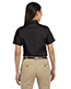Harriton M500SW Women Easy Blend Short-Sleeve Twill Shirt With Stain-Release
