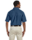 Harriton M550S Men 6.5 Oz. Short-Sleeve Denim Shirt