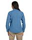 Harriton M550W Women 6.5 Oz. Long-Sleeve Denim Shirt