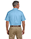 Harriton M600S Men Short-Sleeve Oxford With Stain-Release