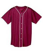 A4 N4184 Men Short-Sleeve Full Button Baseball Top