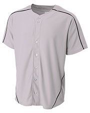 A4 Drop Ship N4214 Men Warp Knit Baseball Jersey