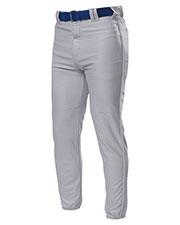 A4 Drop Ship N6178 Men Pro Style Elastic Bottom Baseball Pants