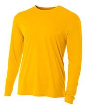 A4 NB3165 Boys Long-Sleeve Cooling Performance Crew Shirt