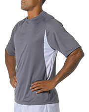 A4 NB3181 Boys Cooling Performance Color Block Short Sleeve Crew