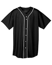 A4 NB4184 Boys Short-Sleeve Full Button Baseball Top