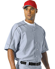 A4 NB4214 Boys Warp Knit Baseball Jersey