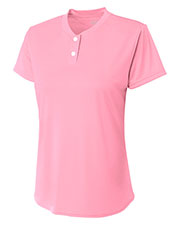 A4 NG3143 Girls Twobutton Henley