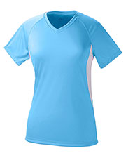 A4 Drop Ship NW3223 Women Color Block Performance V-Neck Shirt