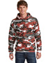 Port & Company PC78HC Men   Core Fleece Camo Pullover Hooded Sweatshirt
