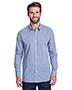 Artisan Collection by Reprime RP220 Men 3.7 oz Microcheck Gingham Long-Sleeve Cotton Shirt