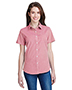 Artisan Collection by Reprime RP321 Ladies 3.7 oz Microcheck Gingham Short-Sleeve Cotton Shirt