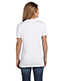 Hanes S04V Women 4.5 Oz. 100% Ringspun Cotton Nano-T V-Neck T-Shirt