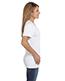 Hanes S04V Women 4.5 Oz. 100% Ringspun Cotton Nano-T V-Neck T-Shirt